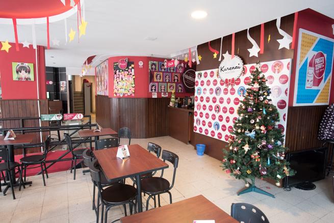 コロンビアのボゴタのメイドカフェの店内