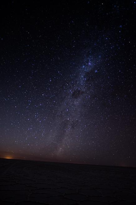 ウユニ塩湖で撮影した星空写真