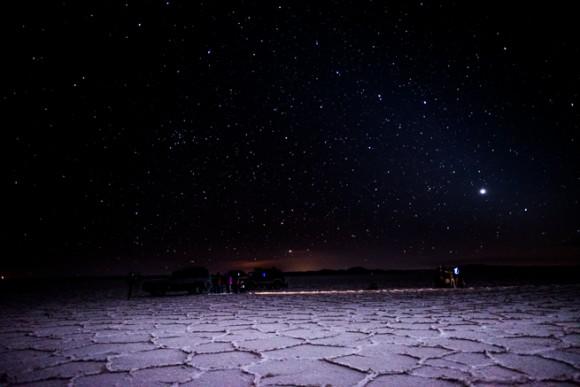 ウユニ塩湖の夜の写真
