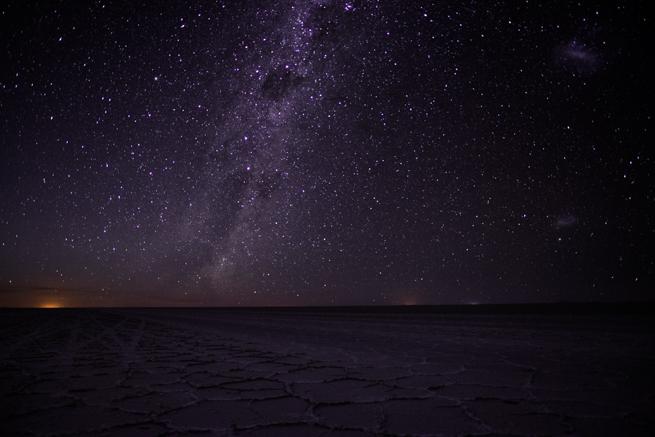 ウユニ塩湖の星空観察