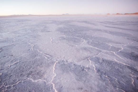 ウユニ塩湖の塩