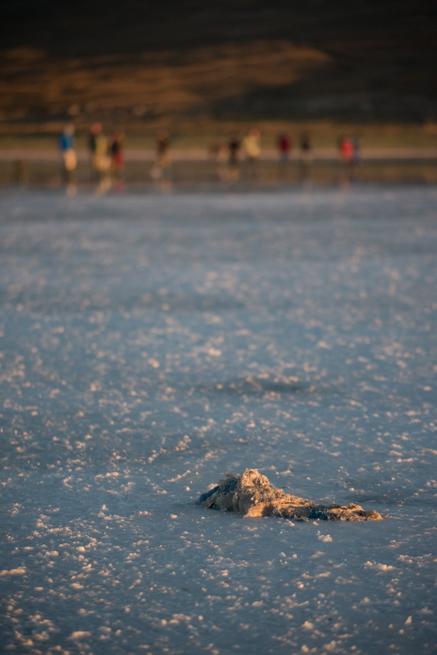 ウユニ塩湖の観光客とゴミ
