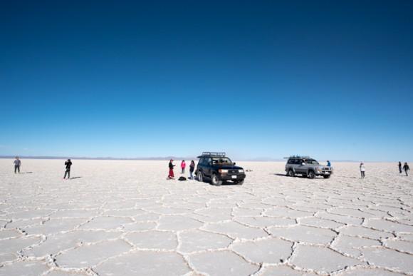 ウユニ塩湖ツアーの様子