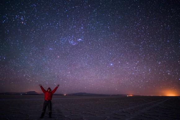 ウユニ塩湖の星空