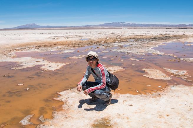 ウユニ塩湖の調査
