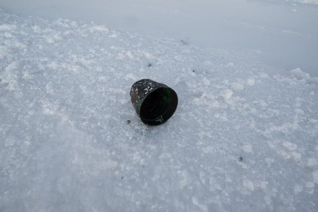 ウユニ塩湖に落ちていたプラスチックゴミ