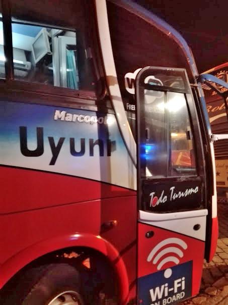 ラパスからウユニへ向かう夜行バス