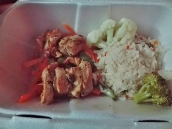 バスの夕食