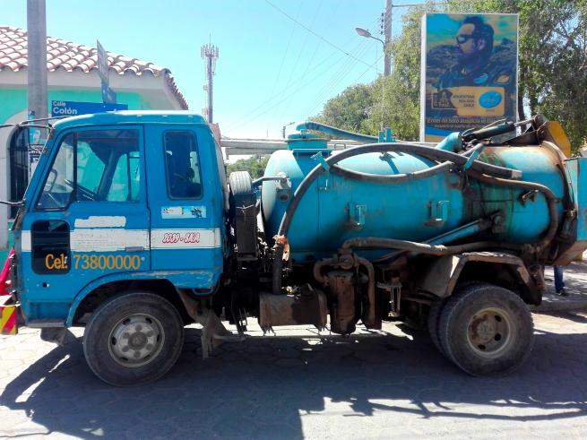 ウユニのタンク車