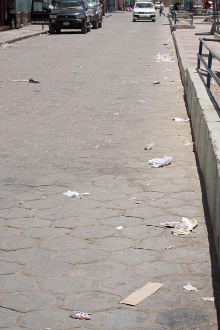 ウユニ市のゴミ