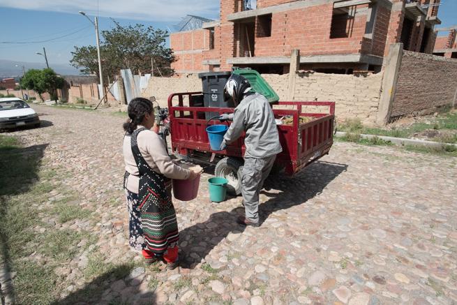 ティキパヤ市のゴミ回収