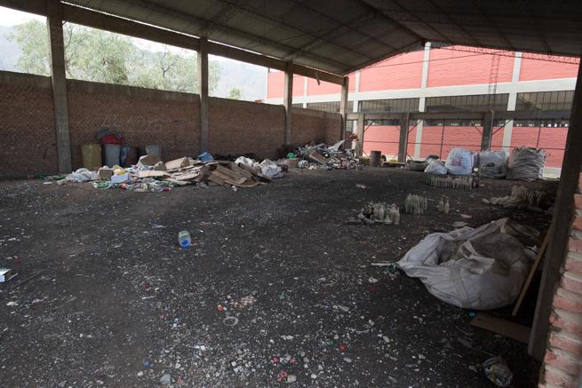 ティキパヤ市の分別回収場