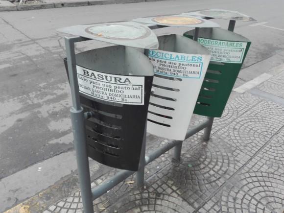 コチャバンバのゴミ箱
