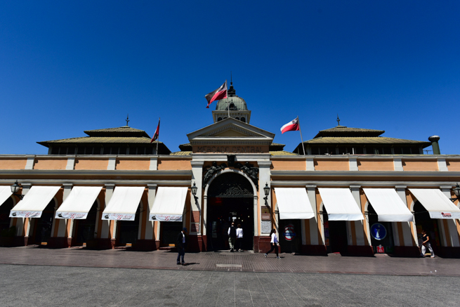 チリのサンチアゴの中央市場