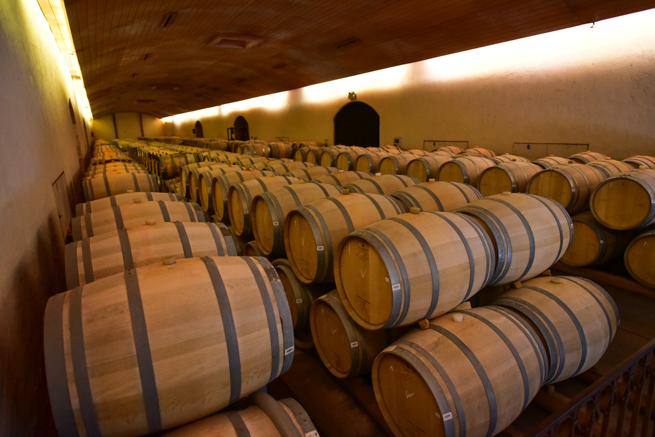 チリのワイン倉庫