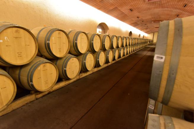 チリのワイン樽