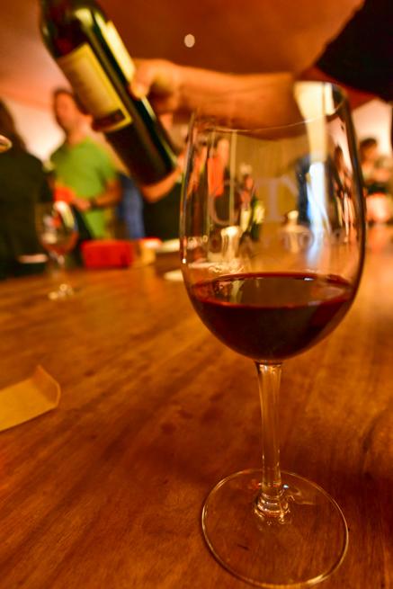 コンチャイトロの赤ワインの試飲