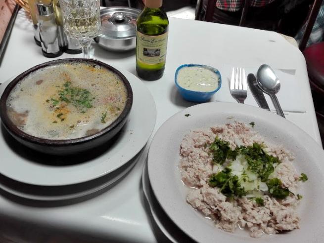 セビーチェと海鮮スープ