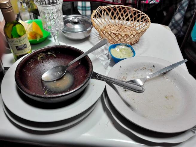海鮮レストランで完食