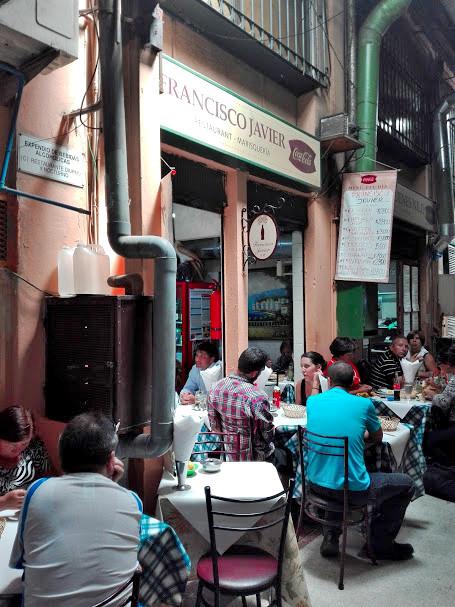 サンチアゴの海鮮市場のレストラン