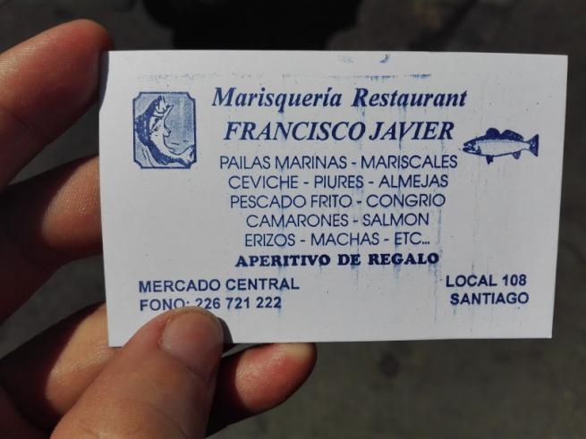 海鮮レストランの名刺