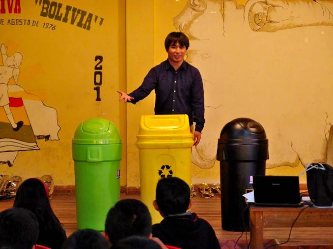 ごみ箱を使った環境教育ワークショップ