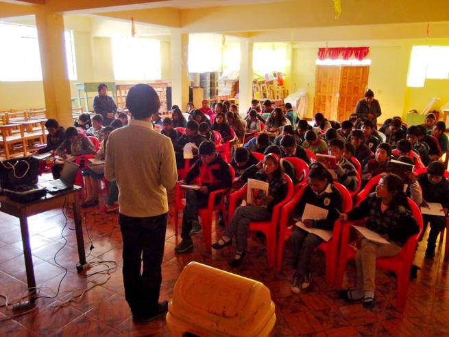 環境教育ワークショップの一コマ