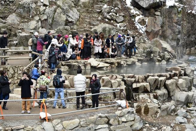スノーモンキーの温泉