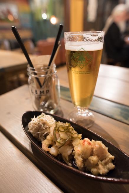 生ビールと美味しいツマミ