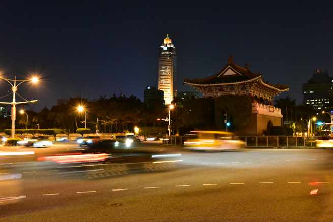 台北市の夜