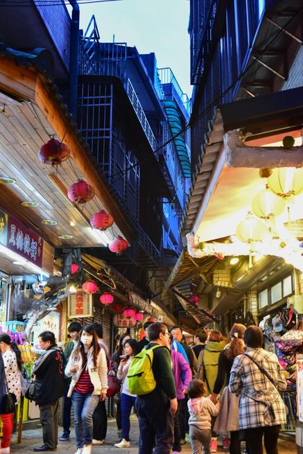 台湾の九ふんの道