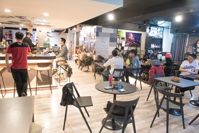 台湾のメイドカフェの店内