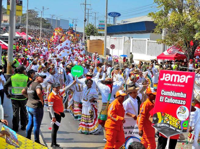 コロンビアのバランキージャのカーニバル