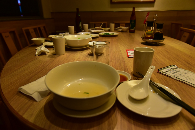 鼎泰豊のテーブル
