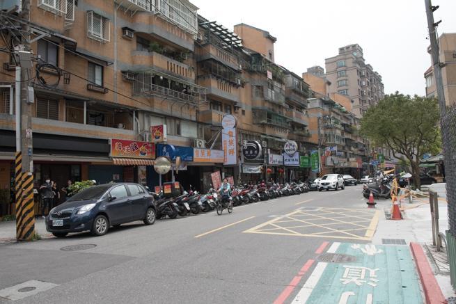 台北の武藤拉麺の近く