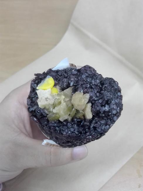 紫米おにぎりの具