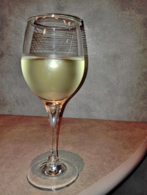 VIPラウンジの白ワイン