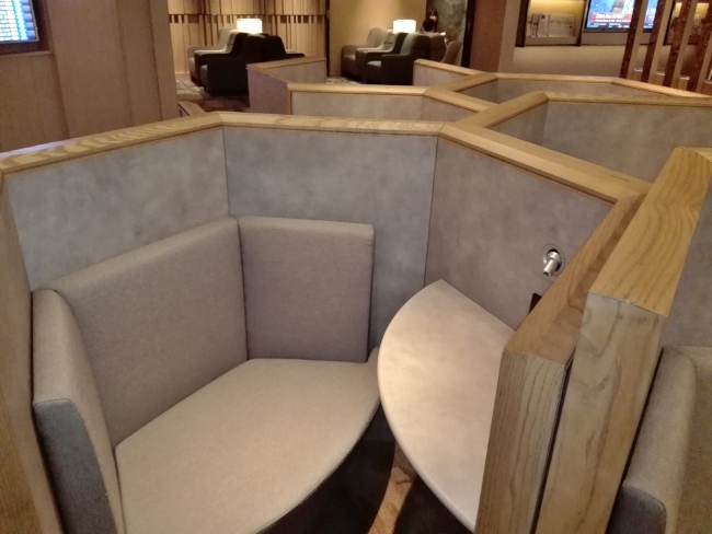 VIPラウンジの個別席