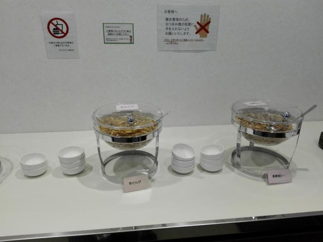 鹿児島空港のVIPラウンジの食べ物