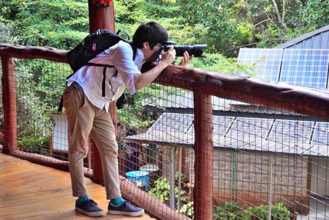 ナイロビのジラフパークで撮影