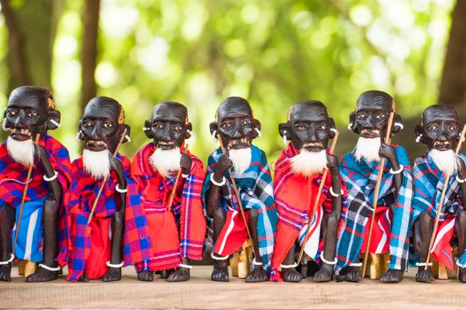 ナイロビのジラフパークのマサイ土産