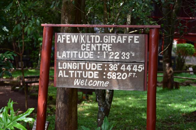 ナイロビのジラフパーク
