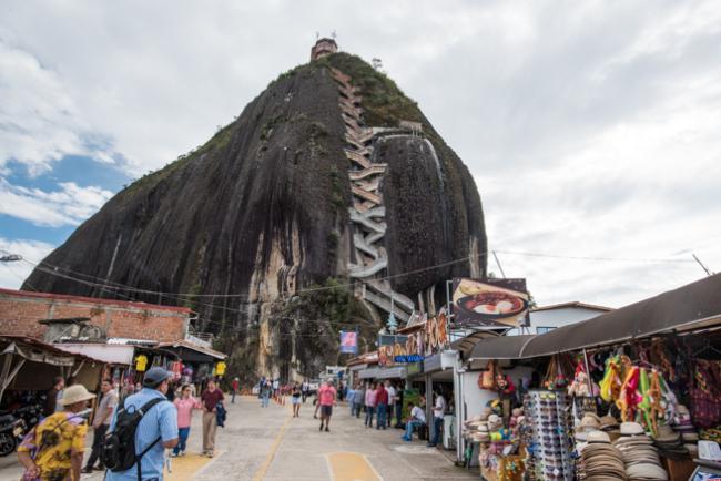 コロンビアの巨石ピエドラデペニョール