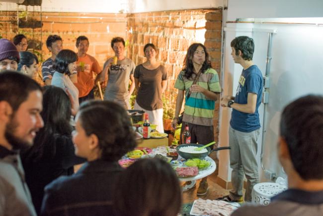 メデジンの日本人宿シュハリのパーティ