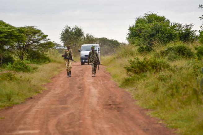 ナイロビ国立公園のガードマン