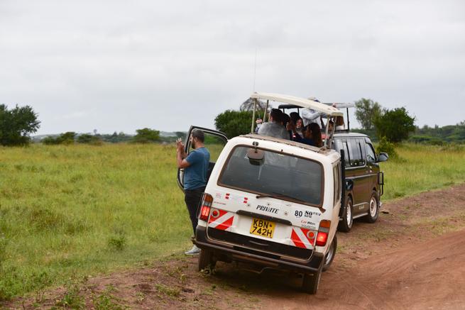 ナイロビ国立公園の観光客
