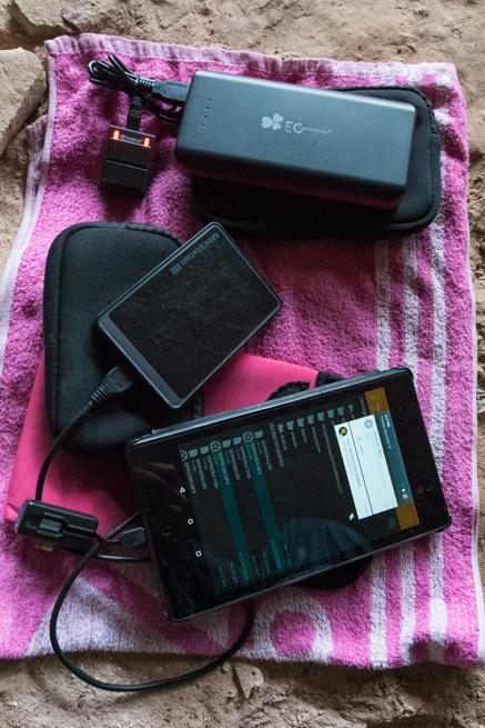 アウヤンテプイで電化製品の充電