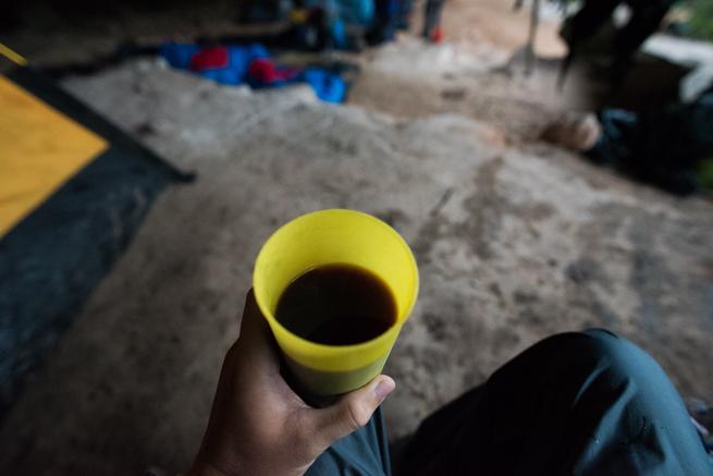 アウヤンテプイトレッキング2日目に飲んだコーヒー