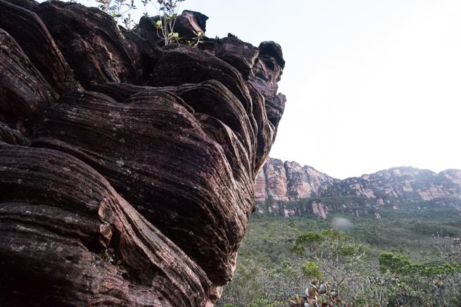 アウヤンテプイの頂上付近の石