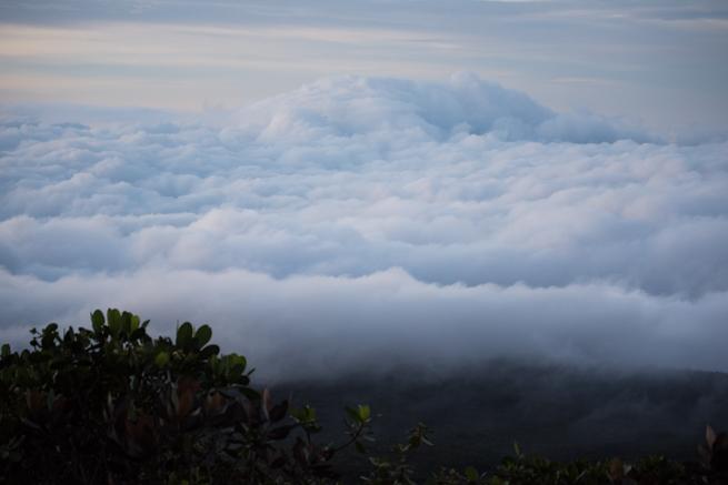 雲海に飲み込まれるテプイ